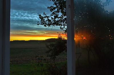 Sonnenaufgang im Haus Lundgreen