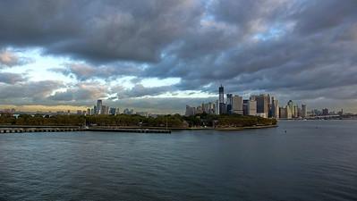 Ankunft mit der Queen Mary 2 in New York