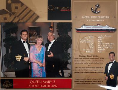 QM2, Kapitäns Begrüßung und Cocktailparty