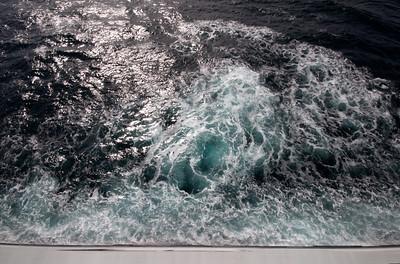 QM2 Ozean von unserer Kabine aus gesehen