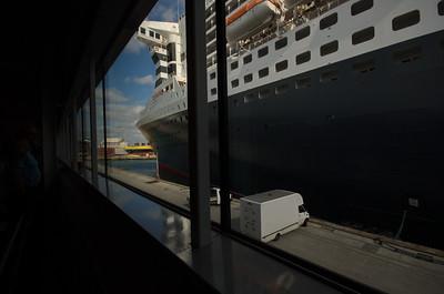 Cunard Abfertigungshalle, QM2
