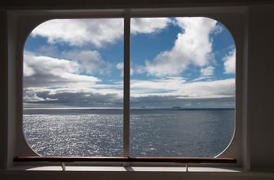 QM2 Blick über den Ozean aus unserer Kabine
