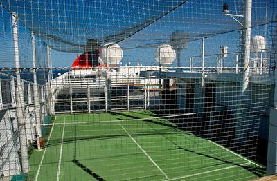 QM2, Tennisplatz, Deck 12