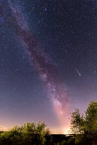 Milky Way with Falling Star
