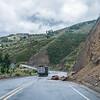 unterwegs nach Guamote, die kleinen Erdrutsche sind zur Gewohnheit geworden