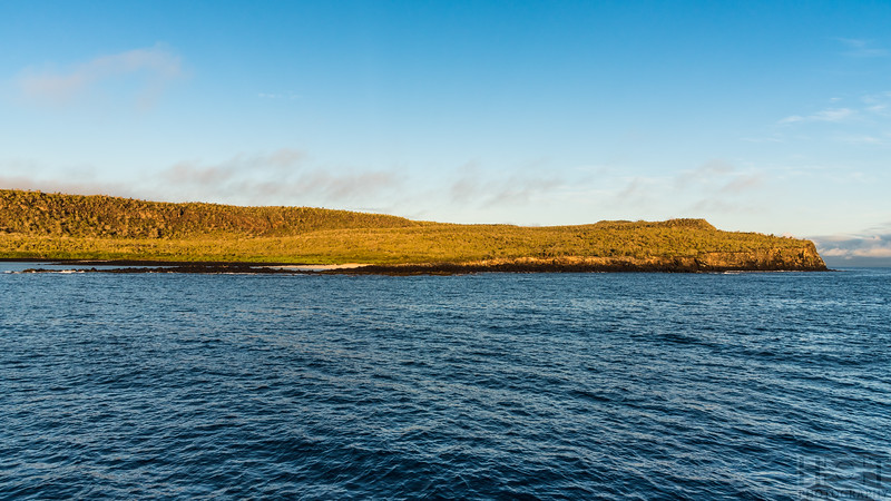 Ankunft am Morgen vor der Isla Santa Fé