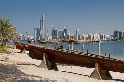 Abu Dhabi Heritage Museum with skyline