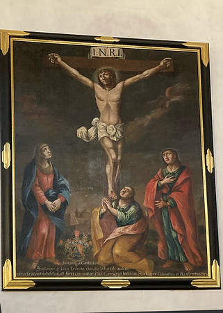 von Osterlammbruderschaft renoviertes Bild im Chor