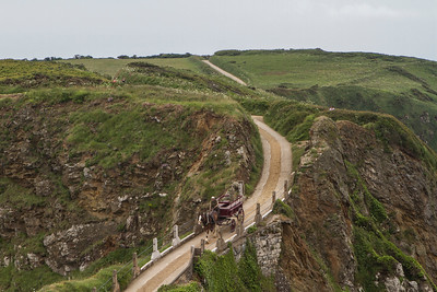 Sark, La Coupée - connection between Sark and Little Sark