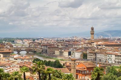 L'Arno col Ponte Vecchio