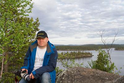 René auf der Heiligen Insel auf dem Inari