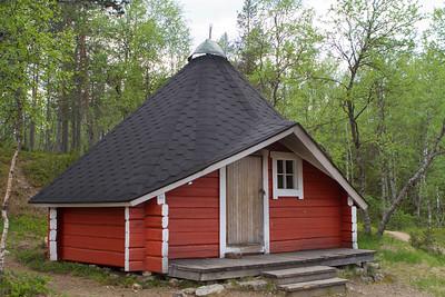 Finnische Hütte im Urho Kekkonen Nationalpark