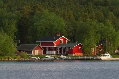 Norwegisches Haus am Inari See