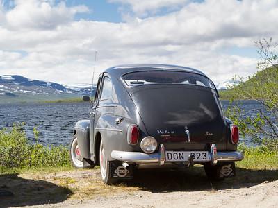 Alter Volvo am Kilpisjärvi