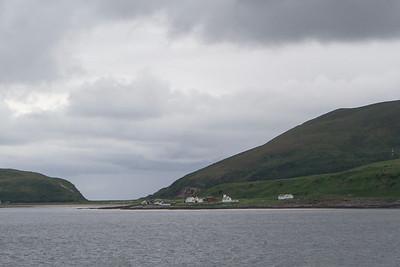 Kleines Dorf auf dem Weg nach Skjervøy
