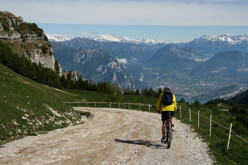Utsikt mot Dolomittene.