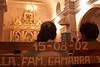 Plaatselijke of uitgeweken families sponsoren de kerk, blijkbaar heeft familie Gamarra tien jaar geleden een zitbank betaald. Roger Vangheluwe werd in het verleden wellicht ook vaak gesponsord.  <br /> Zeg dat ik het niet gezegd heb.