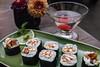 Teriyaki sushi vergezellen mijn cocktail, een lust voor het oog maar ook voor de smaakpapillen. <br /> Hopelijk mag Kintaro nog lang bestaan in Cusco zodat ik nog lang kan komen genieten van deze lekker kost.