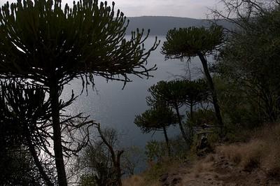 View at Lake Chala from restaurant of Lake Chala Safari Camp