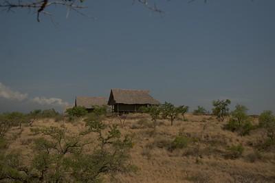 View of our lodge at Lake Chala Safari Camp