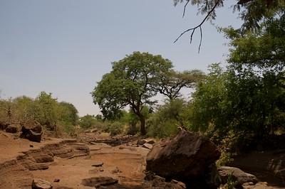 Dry riverbed at Lake Chala