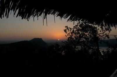 Sunrise at Lake Chala Safari Camp
