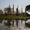 Pagoda aside the Inle Lake, Burma
