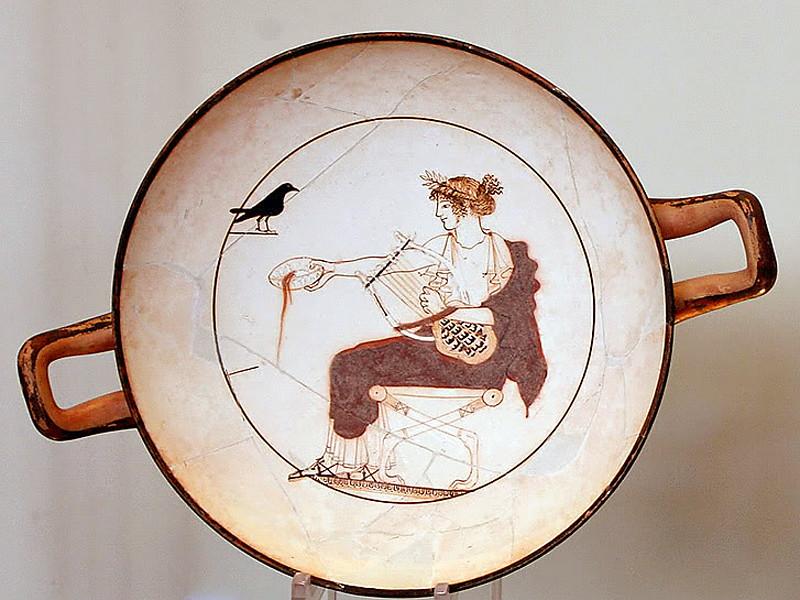 MvD-20020819-09-Delphi-Porseleinen bord-Apollo met Harp