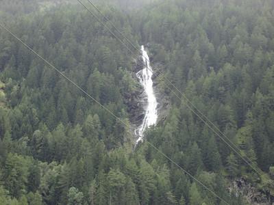 De 159 meters hoge Stuibenfall in Umhausen - de grootste waterval van tirol