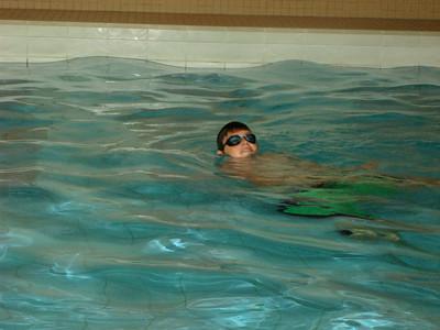 direct het zwembad uitgetest ... en goed bevonden