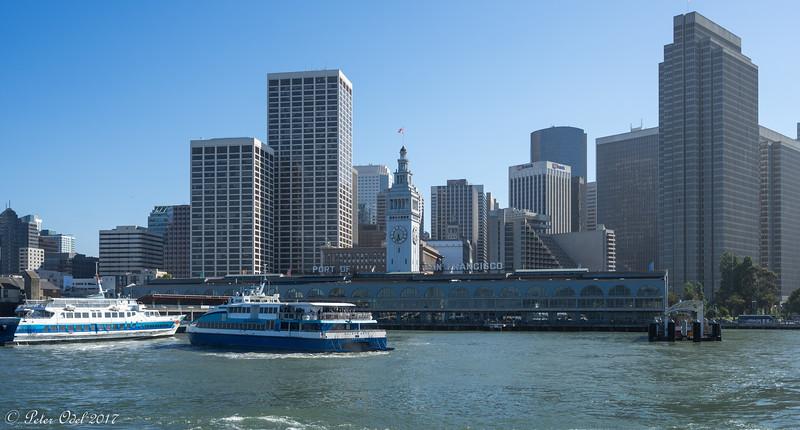Færge tilbage  til Tiburon fra San Francisco