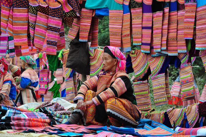 Flower-hmong er kendte for deres fantastiske farver og smykker