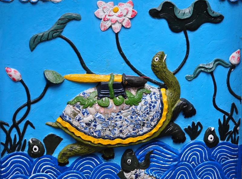 Skilpadden med sværd på ryggen er symbolet på søen i Hanoi (gammel legende)