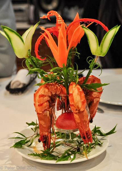 aftensmaden var den rene kunst - og igen lækre skaldyr...