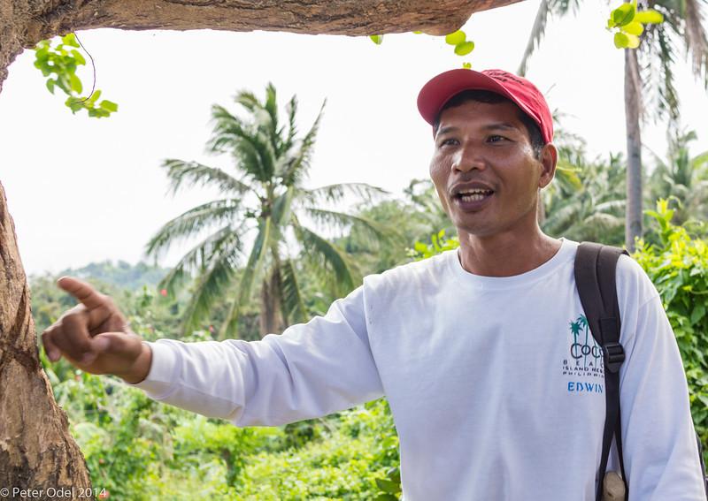 Edwin, our mountain guide. Native Mangian