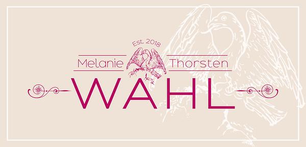 Logo/Printdesign für ein Hochzeitspaar