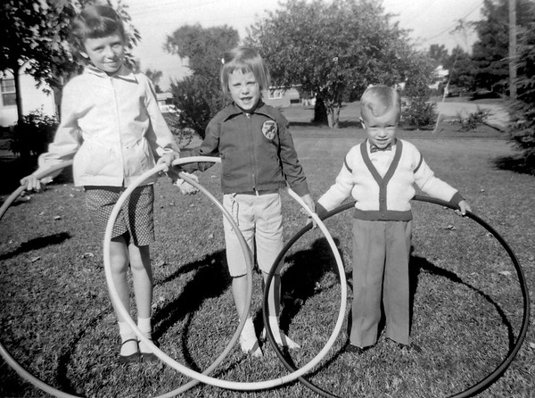 Nancy, Pat, Linwood Hoops Oct 1958