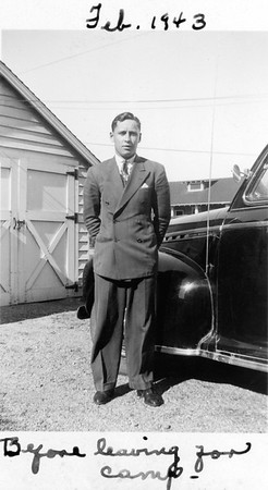 Duke man about to leave for War Feb 1943