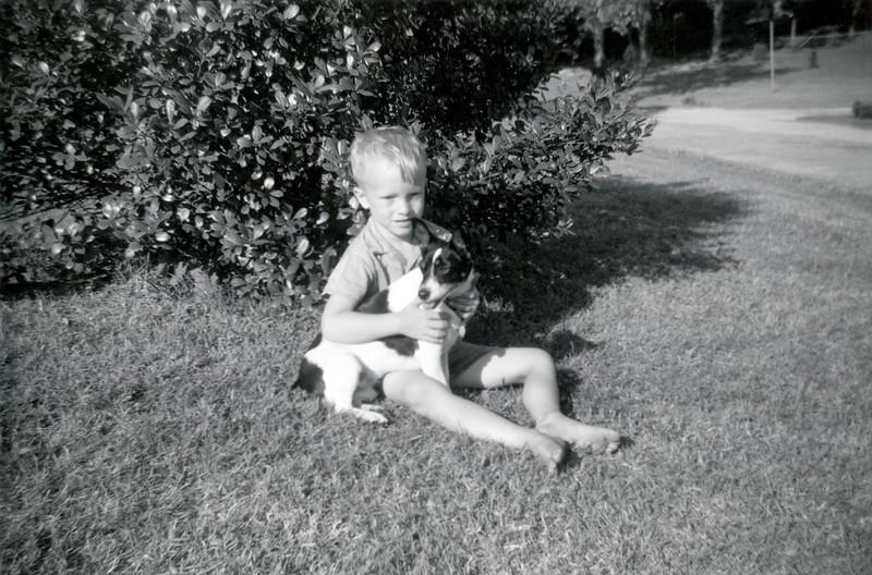 Linwood with Dog July 1960