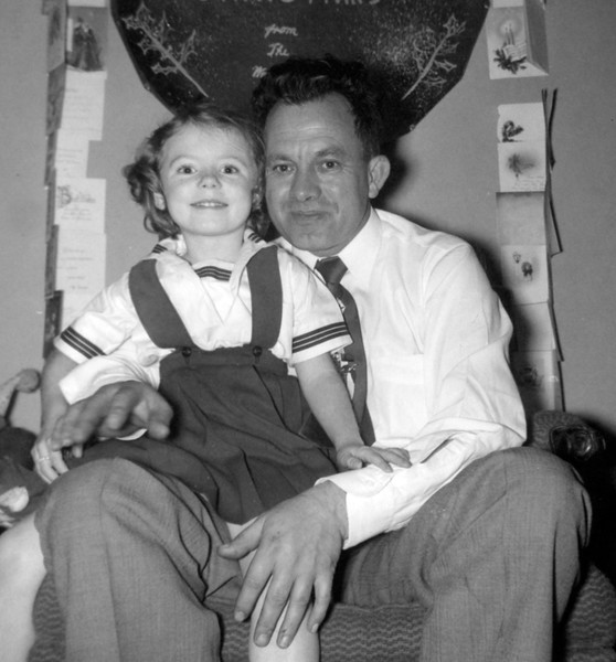 Christmas 1954 with Pat(?)
