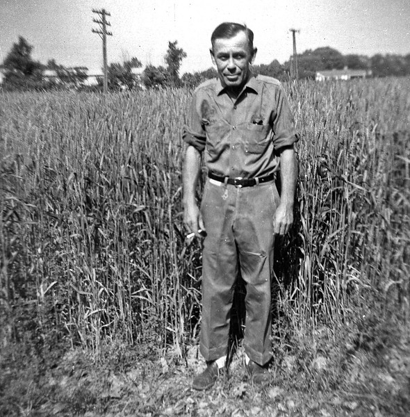Earnest Duke in a Field Circa 1950