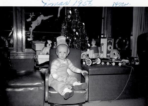 Christmas 1956 14 mo old
