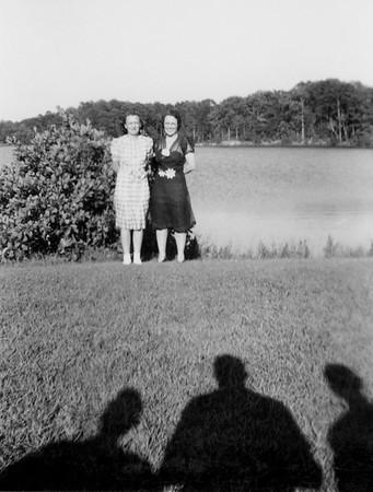 Ruth, at water, maybe 1954