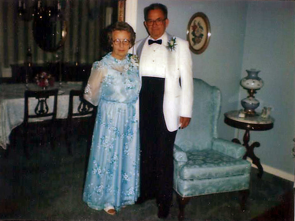 Dressed for Linwood and Betty Jo's Wedding Sep 10 1983