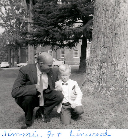 Linwood and Jimmy Jr. March 1961