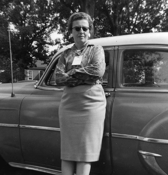 Ruth with Car March 1961