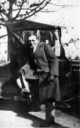 Cabell with Car circa 1925