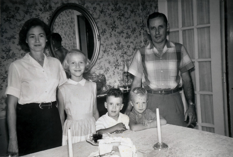 Linwood and Gary Birthday October 1959