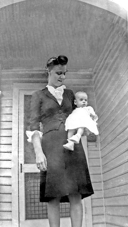 Mary Ruth Hudson with child