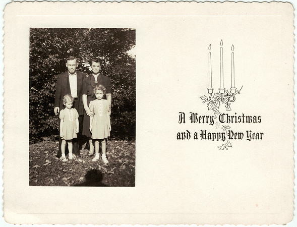 Christmas Card from Earnest and Esther, circa 1946